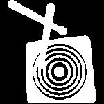 Indie Drums™ Logo Pictogram White