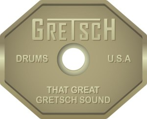 70s Gretsch Drum Kit Badge | Indie Drums™